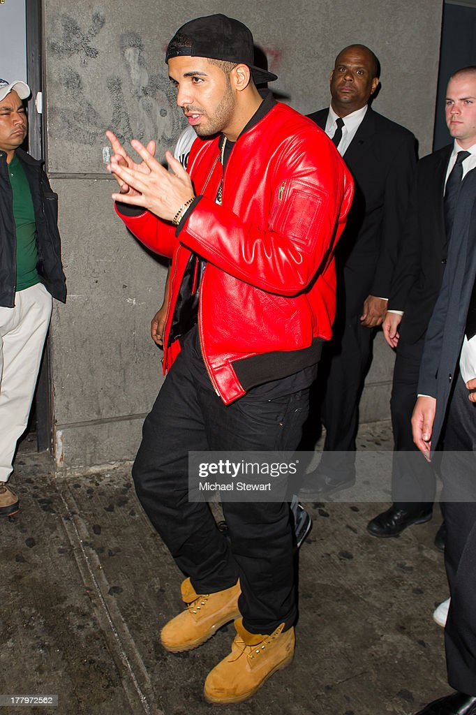 Musician Drake seen on the streets of Manhattan on August 25, 2013 in New York City.