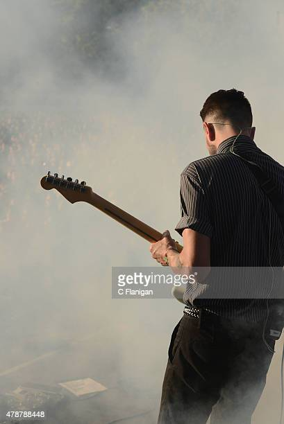 Musician Drew Stewart of Awolnation performs at Bottle Rock festival at Napa Valley Expo on May 31 2015 in Napa California
