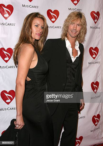 Musician Duff McKagan and an unidentified guest arrive at the 4th annual MusicCares MAP Fund Benefit Concert on May 9 2008 at The Music Box Theatre...