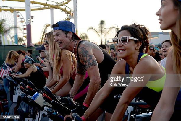 Musician Duff McKagan and Chrome Hearts' Laurie Stark attend Cycle For Heroes at The Santa Monica Pier to benefit The Heroes Project at Santa Monica...