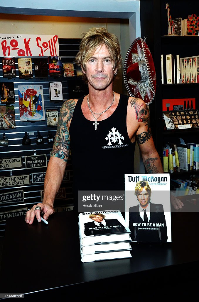 Musician Duff McKagan signs copies of his book 'How To Be A Man: (And Other Illusions)' at Book Soup on May 21, 2015 in West Hollywood, California.