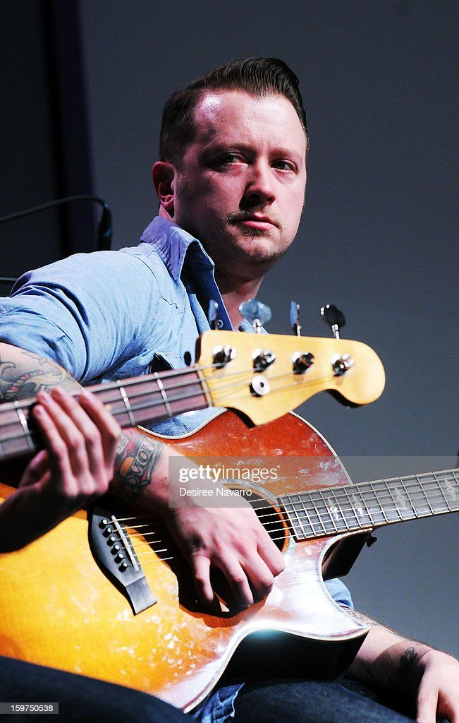 Musician Dusty Redmon of The Almost performs during Meet The Musicians at the Apple Store Soho on January 19, 2013 in New York City.