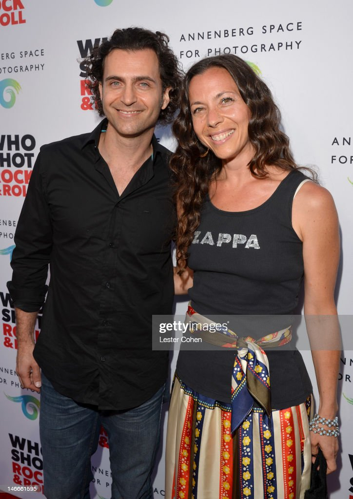 Musician <a gi-track='captionPersonalityLinkClicked' href=/galleries/search?phrase=Dweezil+Zappa&family=editorial&specificpeople=1106695 ng-click='$event.stopPropagation()'>Dweezil Zappa</a> (L) and sister <a gi-track='captionPersonalityLinkClicked' href=/galleries/search?phrase=Moon+Unit+Zappa&family=editorial&specificpeople=234383 ng-click='$event.stopPropagation()'>Moon Unit Zappa</a> attend the Who Shot Rock & Roll Opening Night VIP Reception at the Annenberg Space For Photography on June 21, 2012 in Century City, California.