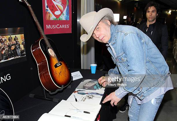 Musician Dwight Yoakam attends the GRAMMY Charities Signings during The 57th Annual GRAMMY Awards at the Staples Center on February 6 2015 in Los...