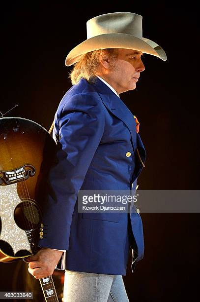 Musician Dwight Yoakam performs 'Hold My Hand' onstage during The 57th Annual GRAMMY Awards at the at the STAPLES Center on February 8 2015 in Los...