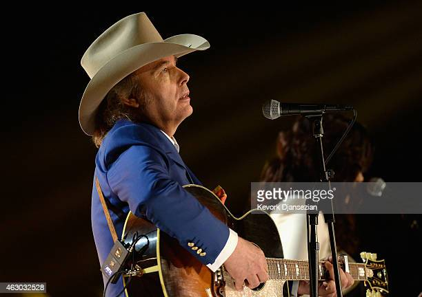 Musician Dwight Yoakam performs onstage during The 57th Annual GRAMMY Awards at the at the STAPLES Center on February 8 2015 in Los Angeles California