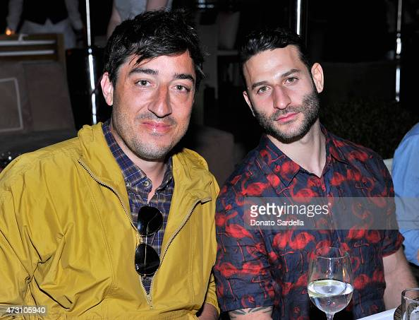 Musician Ed Droste and producer Chris Moukarbel attend an intimate dinner hosted by Charlotte Olympia Dellal and Liz Goldwyn at The Sunset Tower...