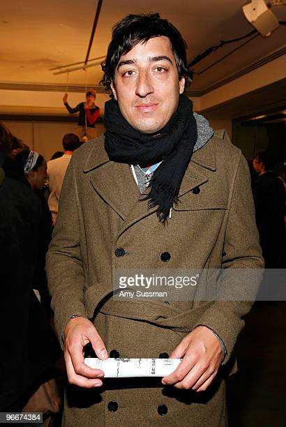 Musician Ed Droste of Grizzly Bear at the Band Of Outsiders/Boy Fall 2010 Fashion Show during MercedesBenz Fashion Week at Milk Studios on February...