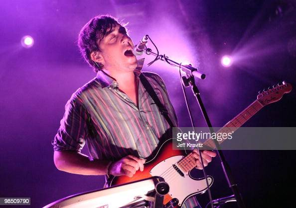 Musician Ed Droste of Grizzly Bear performs during day 1 of the Coachella Valley Music Arts Festival 2010 held at The Empire Polo Club on April 16...