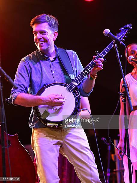 Musician Ed Helms performs onstage at That Tent as part of The Bluegrass Situation SuperJam during Day 4 of the 2015 Bonnaroo Music And Arts Festival...
