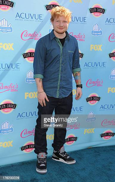 Musician Ed Sheeran attends the 2013 Teen Choice Awards at Gibson Amphitheatre on August 11 2013 in Universal City California