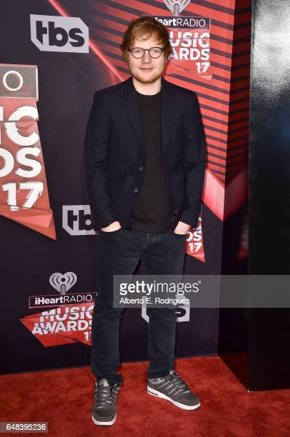 Musician Ed Sheeran attends the 2017 iHeartRadio Music Awards which broadcast live on Turner's TBS TNT and truTV at The Forum on March 5 2017 in...