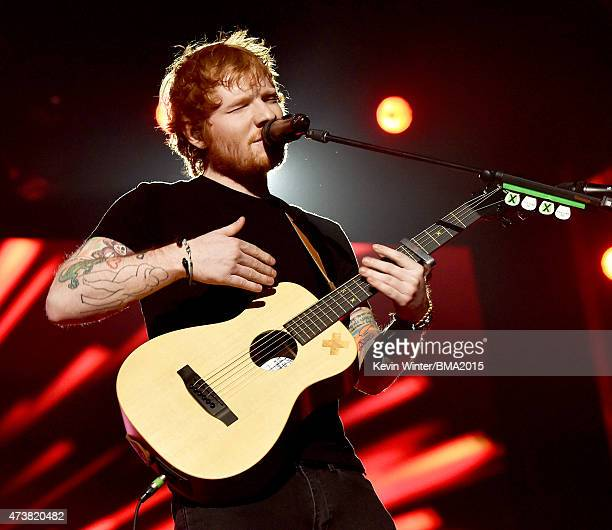 Musician Ed Sheeran performs onstage during the 2015 Billboard Music Awards at MGM Grand Garden Arena on May 17 2015 in Las Vegas Nevada
