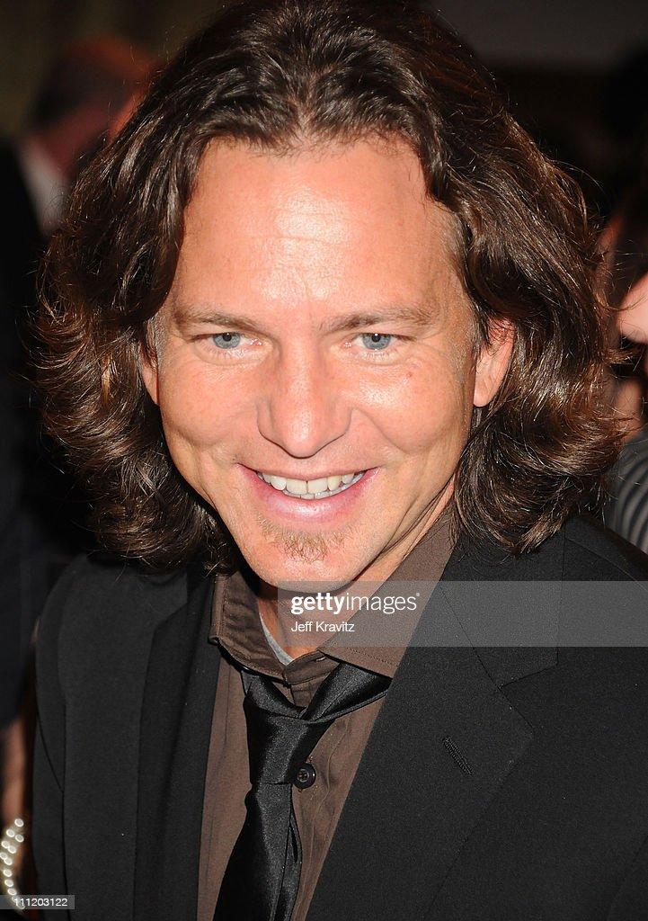 Musician Eddie Vedder ...