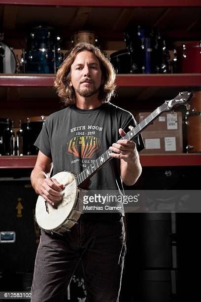 Musician Eddie Vedder is photographed for Q Magazine on July 25 2011
