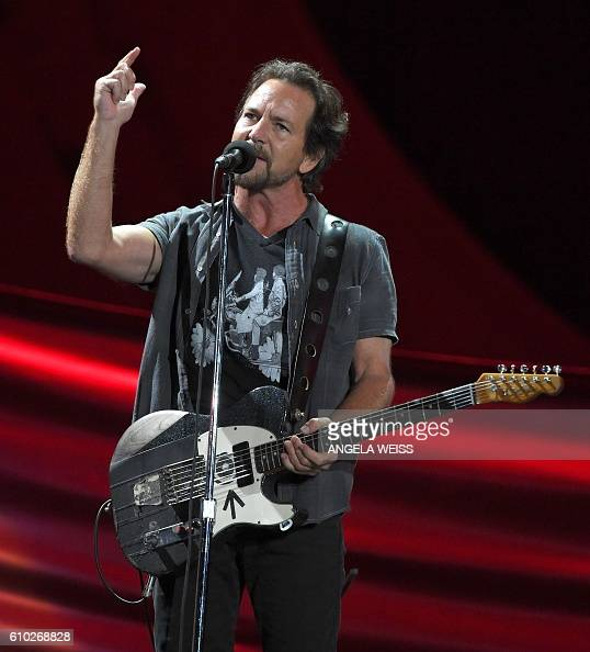 Musician Eddie Vedder performs at the 2016 Global Citizen Festival in Central Park to end extreme poverty by 2030 at Central Park on September 24...
