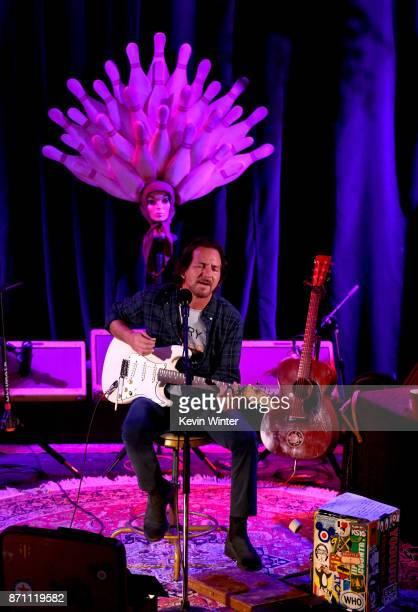 Musician Eddie Vedder performs during Citi Sound Vault Presents Eddie Vedder at The Chapel on November 6 2017 in San Francisco California