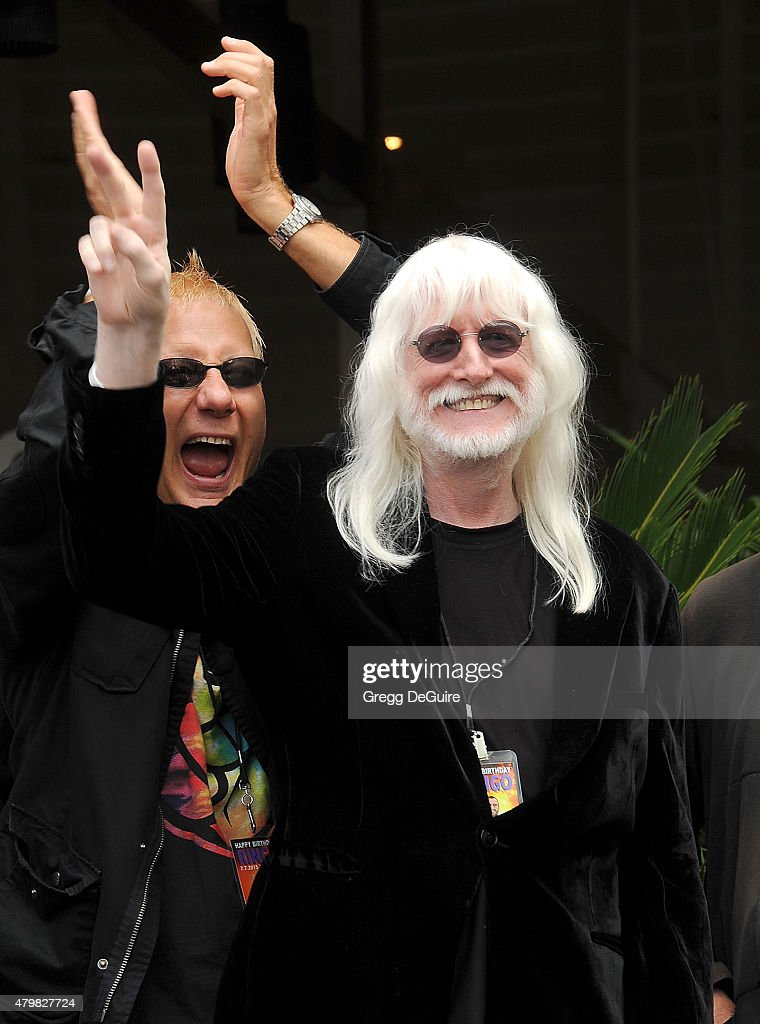 Musician Edgar Winter attend Ringo Starr's birthday fan gathering at Capitol Records on July 7, 2015 in Hollywood, California.