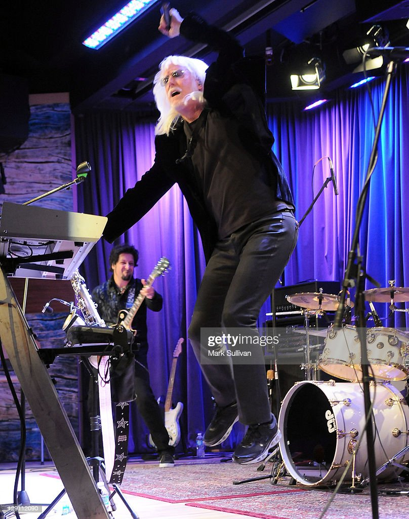 Musician Edgar Winter performs during An Evening With Edgar Winter at The GRAMMY Museum on October 12, 2011 in Los Angeles, California.