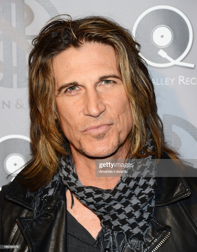 Musician EJ Curse arrives at the Heaven and Earth 'Dig' world premiere album release party at The Fonda Theatre on April 10, 2013 in Los Angeles, California.