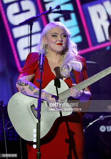 Musician Elle King performs onstage at Dick Clark's New Year's Rockin' Eve with Ryan Seacrest 2016 on December 31 2015 in Los Angeles CA