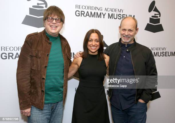 Musician Elliot Easton executive producer Christina Fon and musician Wayne Kramer attend Reel to Reel Rumble The Indians Who Rocked The World...