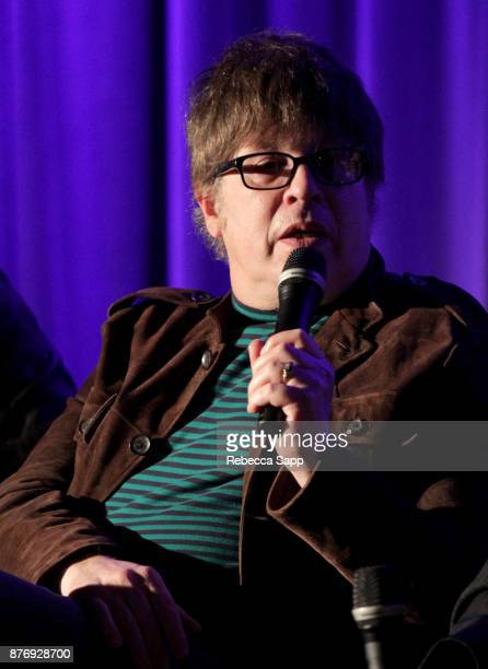 Musician Elliot Easton speaks onstage at Reel to Reel Rumble The Indians Who Rocked The World Featuring a postscreening conversation with the...