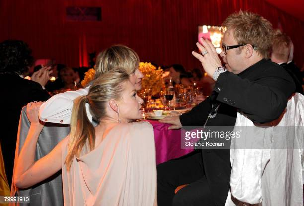 HOLLYWOOD FEBRUARY 24 Musician Elton John actress Portia de Rossi and comedian Ellen DeGeneres attend the 16th Annual Elton John AIDS Foundation...
