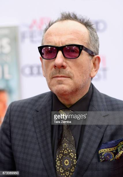 Musician Elvis Costello arrives at the AFI FEST 2017 Presented By Audi screening of 'Film Stars Don't Die In Liverpool' at TCL Chinese Theatre on...