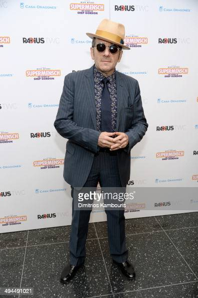 Musician Elvis Costello attends the ''Supermensch The Legend Of Shep Gordon' screening at The Museum of Modern Art on May 29 2014 in New York City