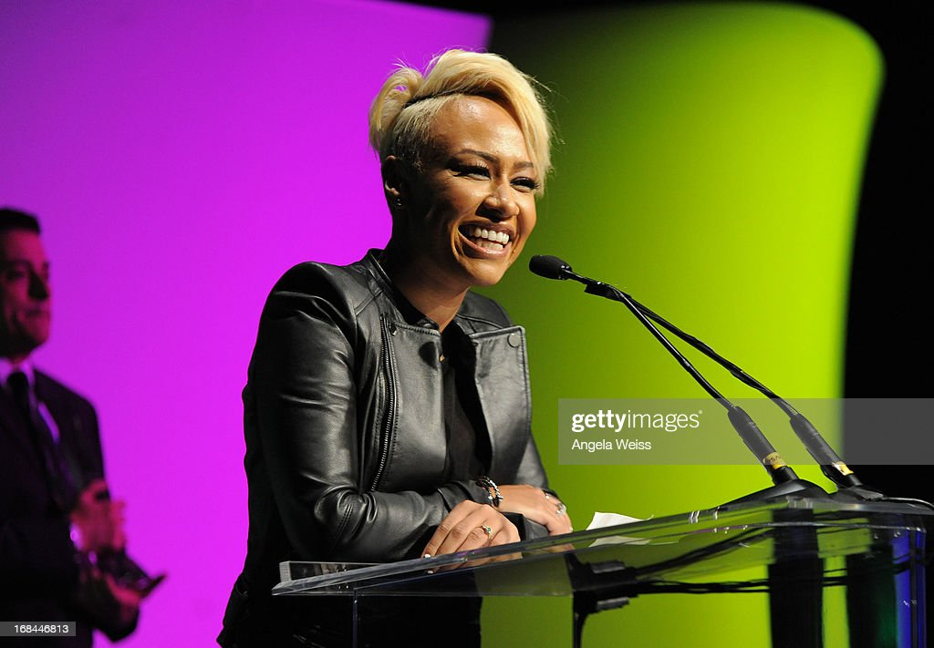 Musician <a gi-track='captionPersonalityLinkClicked' href=/galleries/search?phrase=Emeli+Sande&family=editorial&specificpeople=7220317 ng-click='$event.stopPropagation()'>Emeli Sande</a> attends the 2013 Music Biz Awards presented by NARM and digitalmusic.org at the Hyatt Regency Century Plaza on May 9, 2013 in Century City, California.