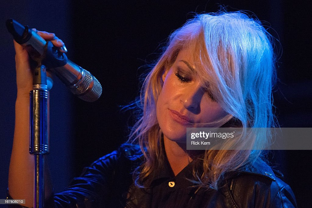 Musician <a gi-track='captionPersonalityLinkClicked' href=/galleries/search?phrase=Emily+Haines&family=editorial&specificpeople=557275 ng-click='$event.stopPropagation()'>Emily Haines</a> of Metric performs as part of the Jack Daniel's 'Live at the Landmark' concert series benefitting Silver & Black Give Back at the Pearl Stable on April 29, 2013 in San Antonio, Texas.