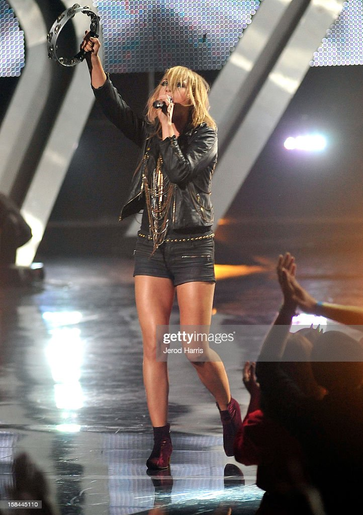 Musician Emily Haines of the musical group Metric performs onstage at 'VH1 Divas' 2012 held at The Shrine Auditorium on December 16, 2012 in Los Angeles, California.
