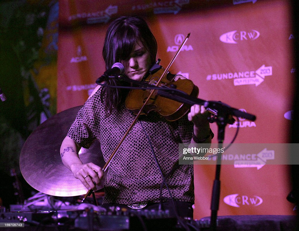 Musician Emily Wells attends the Music Cafe And