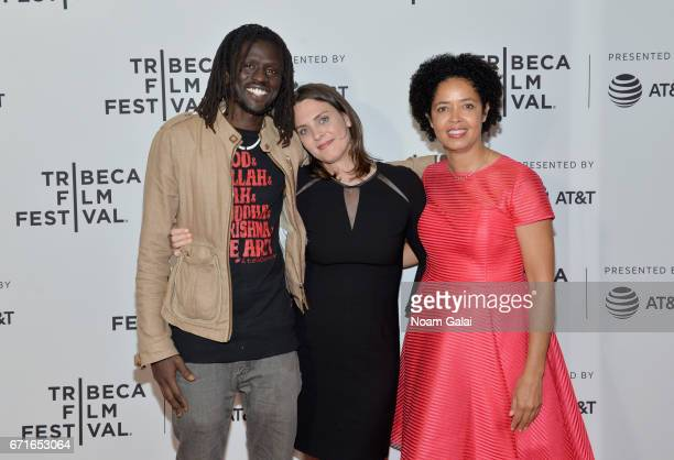 Musician Emmanuel Jal Director Kate Brooks and Dr Paula Kahumbu attends 'The Last Animals' Premiere during 2017 Tribeca Film Festival at Cinepolis...
