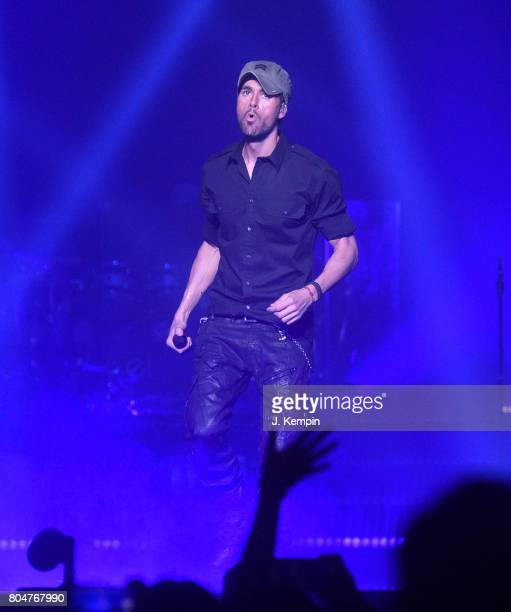 Musician Enrique Iglesias performs at Madison Square Garden on June 30 2017 in New York City
