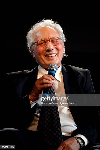 Musician Enzo Jannacci awardered by La Casa dei Pensieri cause for his career as an actor singer musician poet and artist on September 17 2009 in...
