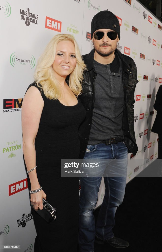 Musician <a gi-track='captionPersonalityLinkClicked' href=/galleries/search?phrase=Eric+Church&family=editorial&specificpeople=619568 ng-click='$event.stopPropagation()'>Eric Church</a> (R) and guest attend the EMI Post-GRAMMY Party held at The Capitol Tower at Capitol Records Tower on February 12, 2012 in Los Angeles, California.