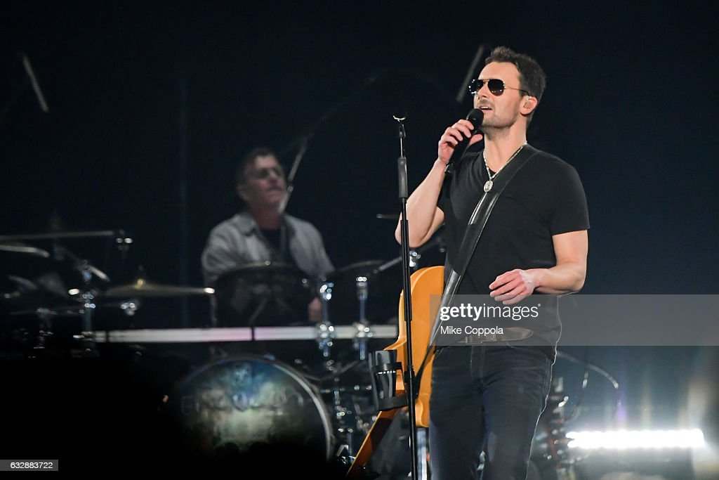 Musician Eric Church performs during his Holdin' My Own Tour at Barclays Center on January 27, 2017 in the Brooklyn borough of New York City.