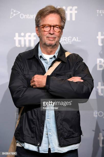 Musician Eric Clapton attends 'Eric Clapton Life In 12 Bars' press conference during 2017 Toronto International Film Festival at TIFF Bell Lightbox...