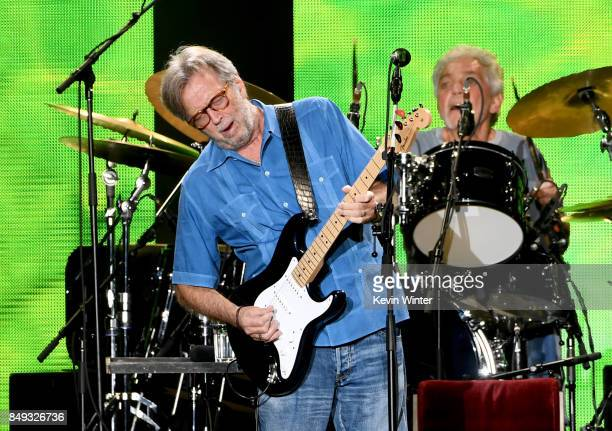 Musician Eric Clapton performs at The Forum on September 18 2017 in Inglewood California