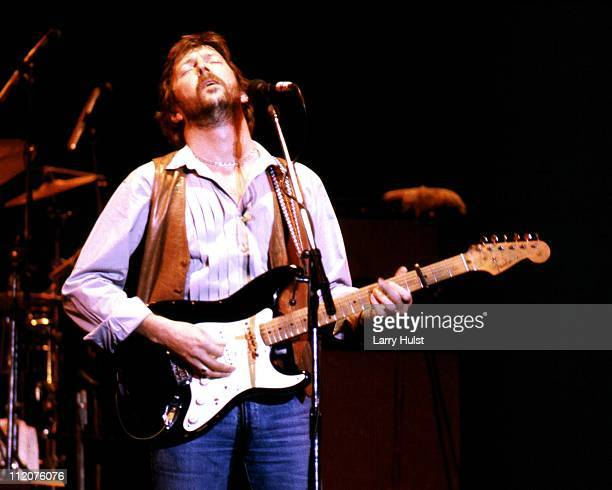 Musician Eric Clapton performs at the Sacramento Memorial Auditorium in Sacramento California on November 24 1976