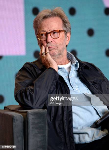 Musician Eric Clapton speaks onstage at 'Eric Clapton Life In 12 Bars' press conference during 2017 Toronto International Film Festival at TIFF Bell...