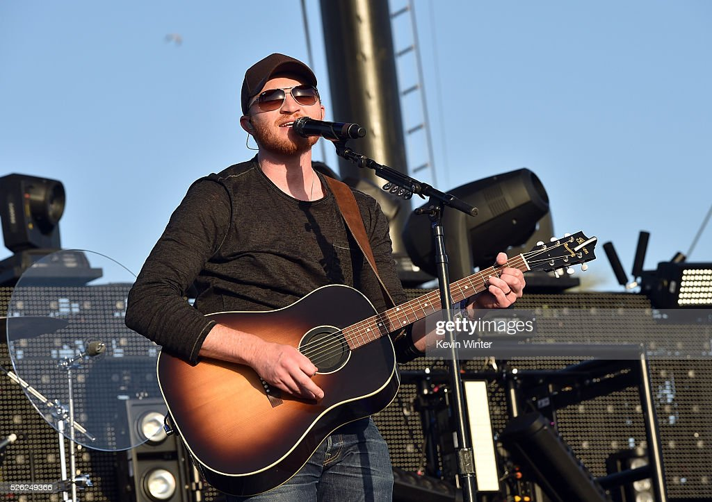 Musician Eric Paslay performs onstage during 2016 Stagecoach California's Country Music Festival at Empire Polo Club on April 29 2016 in Indio...