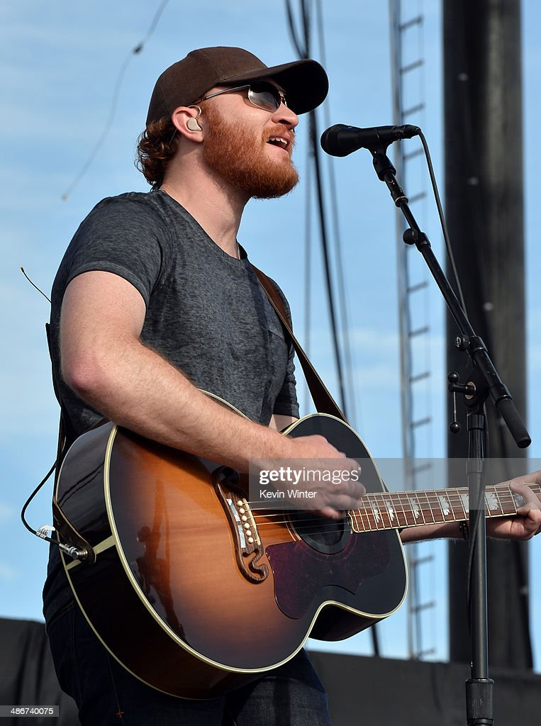Musician Eric Paslay performs onstage during day 1 of 2014 Stagecoach California's Country Music Festival at the Empire Polo Club on April 25 2014 in...