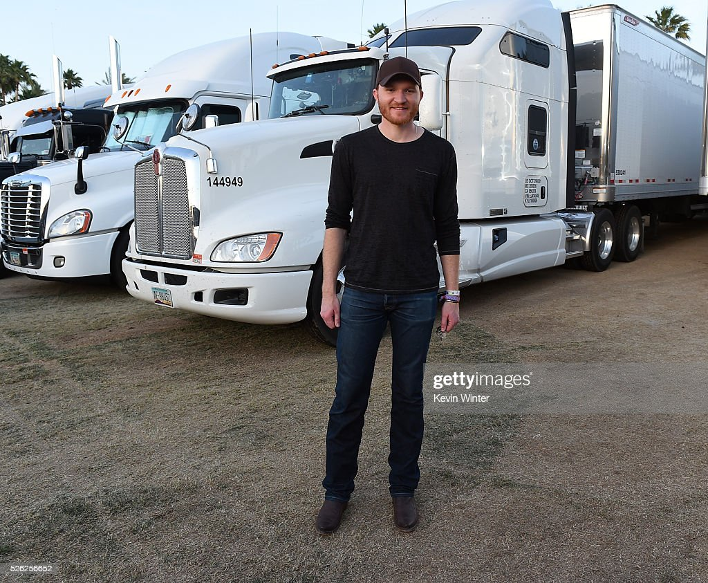 Musician Eric Paslay poses during 2016 Stagecoach California's Country Music Festival at Empire Polo Club on April 29 2016 in Indio California