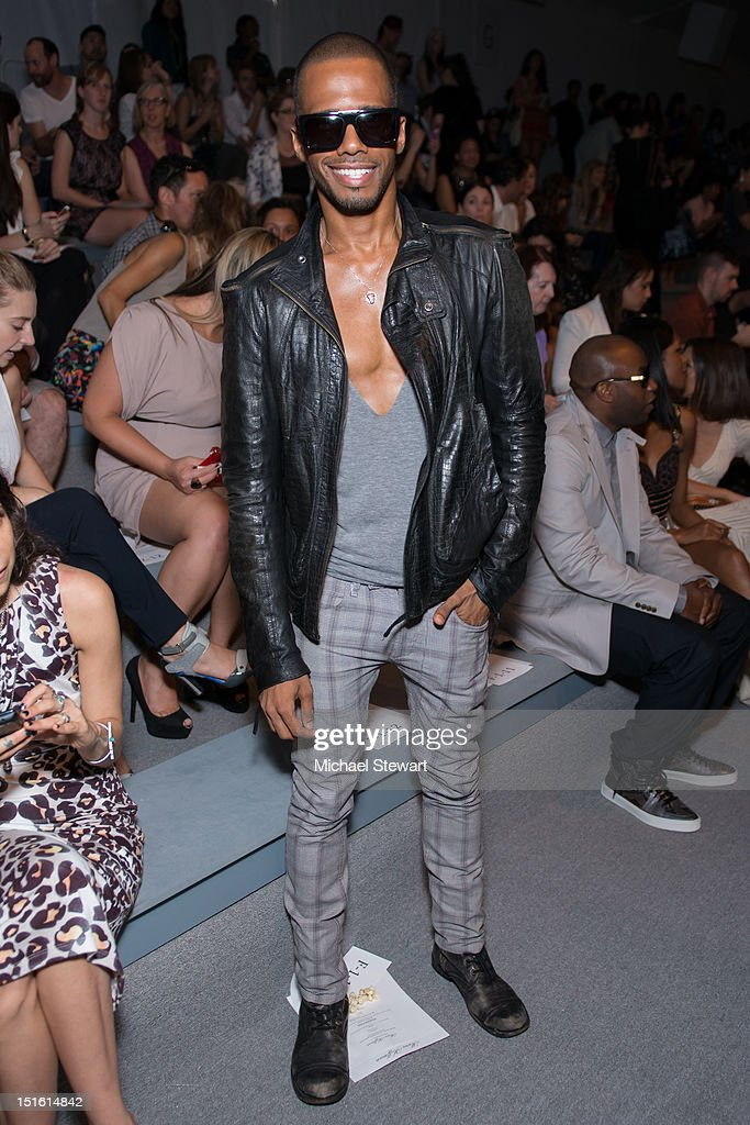 Musician Eric West attends the Mara Hoffman show during Spring 2013 Mercedes-Benz Fashion Week at The Stage Lincoln Center on September 8, 2012 in New York City.