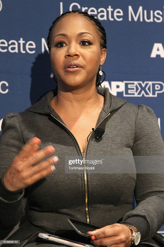 Musician Erica Campbell speak onstage at the iWrite:Master Session during the 2016 ASCAP 'I Create Music' EXPO on April 28, 2016 in Los Angeles, California.