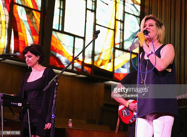 Musician Erika M Anderson of EMA performs onstage at Pitchfork during the 2014 SXSW Music Film Interactive Festival at Central Presbyterian Church on...