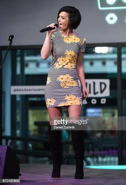Musician Erin Bowman performs during the Build Series at Build Studio on April 24 2017 in New York City